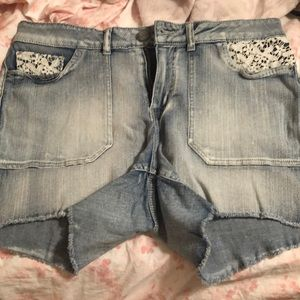 Faded Glory Shorts with Lace Design